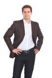 Business man isolated on white background stock photo