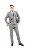 Business man isolated on white royalty free stock photo
