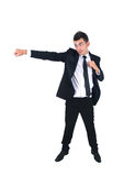 Business man isolated. Isolated young business man fight royalty free stock photo