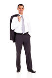 Business man jacket Royalty Free Stock Photos
