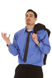 Business man jacket shoulder frustrated Stock Photography