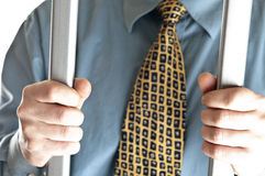 Business man in jail stock image