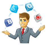 Business man juggling Royalty Free Stock Image