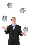 Business Man Juggling His Time Stock Photo