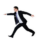 Business man jump. Isolated business man big jump Royalty Free Stock Image