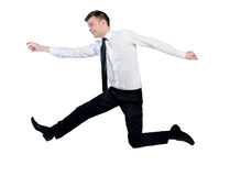 Business man jump Stock Photos