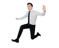 Business man jump side Royalty Free Stock Image