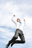 Business man jumping Stock Photo