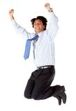 Business man jumping Stock Photography