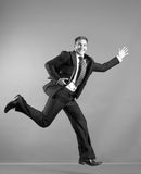 Business man jumping royalty free stock images