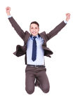 Business man jumping in the air Royalty Free Stock Image