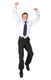Business man jumping high Royalty Free Stock Images