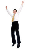 Business man jumping of joy Stock Photo