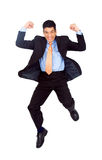 Business man jumping of joy Stock Photos