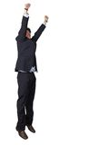 Business man jumping of joy Stock Images