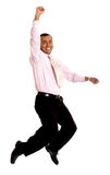 Business man jumping of success Royalty Free Stock Photo