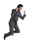 Business Man Jumps (the Series) Royalty Free Stock Image
