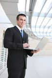 Business Man with Laptop Royalty Free Stock Photo