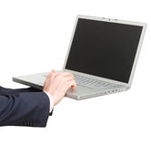 Business man with laptop Royalty Free Stock Photos