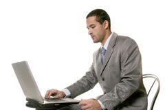 Business Man on laptop Royalty Free Stock Photography