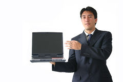 Business man laptop - ar Stock Photos