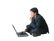 Business man - laptop AR Stock Image
