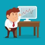 Business man laptop financial work idea Stock Photo