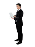 Business man with laptop Royalty Free Stock Image