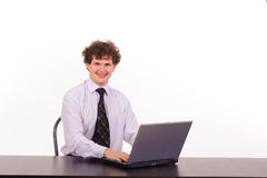 Business man with laptop Royalty Free Stock Photography