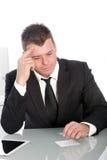 Business man thinking Royalty Free Stock Image