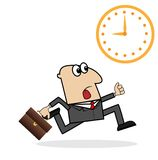 Business man is late on work Royalty Free Stock Photo