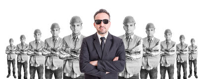 Business man leader of builders Stock Photo