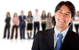 Business man leading a group Stock Photography
