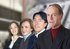 Business man leading his team Stock Photography