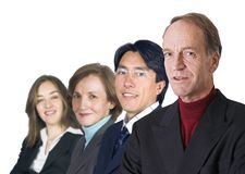Business man leading his team- isolated Royalty Free Stock Photos