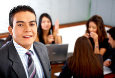 Business man leading a team Stock Photography
