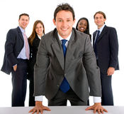 Business man leading a team Royalty Free Stock Images