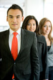 Business man leading a team Stock Images