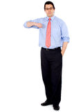 Business man leaning Royalty Free Stock Image