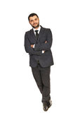 Business man leaning on something Royalty Free Stock Photography
