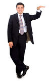 Business man leaning on something Stock Photos