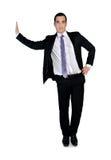 Business man leaning on something Royalty Free Stock Image