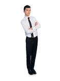 Business man leaning on something Royalty Free Stock Photos