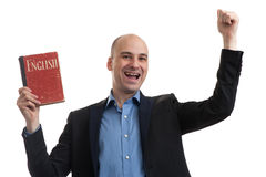 Business man learning English Stock Photography