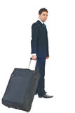 Business man leaving in a travel Royalty Free Stock Photo