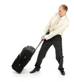 Business man leaving in a travel Royalty Free Stock Photography