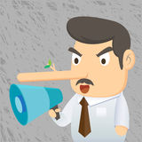 Business Man - lie Stock Image