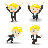 Business man lift something Royalty Free Stock Image