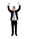 Business man lift something Royalty Free Stock Images