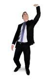 Business man lifting something Royalty Free Stock Photos
